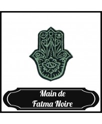 Patch Main de Fatma Noir