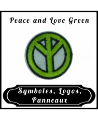Patch Peace and Love Green