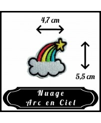 Patch Nuage Arc en Ciel