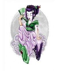 "Tattoo "" Geisha GREEN &..."