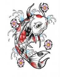"Tattoo "" Carpes Rouge..."