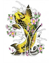 tatouage ephemere carpes Koi
