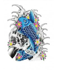 "Tattoo "" BLUE CARP   """