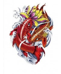 "Tattoo "" RED & GOLD CARPS   """