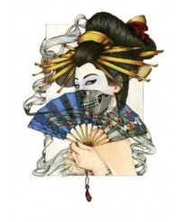 tatouage ephemere geisha