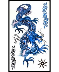 Tattoo Blue Dragon