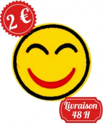 Patch Emoji sourire rouge